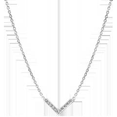 Necklace Abundance - Eve - white gold 18 carats and diamonds