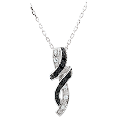 Necklace Clair Obscure - Rendez-vous - white gold, black diamond