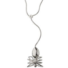 Necklace Imaginary Walk - Spider Queen - white gold and diamonds