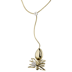 Necklace Imaginary Walk - Spider Queen - yellow gold and diamonds