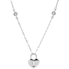 Necklace Precious Secret - Heart - White Gold