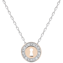 Necklace Precious Secret - white gold, rose gold and diamonds