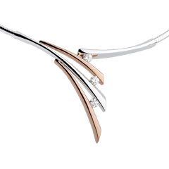 Necklace - Shadow - rose gold, white gold