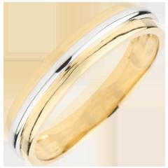 Obrączka Helios - złoto białe i złoto żółte 9-karatowe