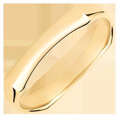 Obrączka męska Święta Dżungla - 4 mm - złoto żółte 18-karatowe