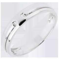 Obrączka Obietnica - czyste złoto - złoto białe 9-karatowe