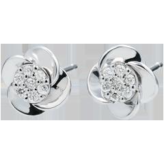 Ohrringe Blüte - Rosenblüten - 18 Karat