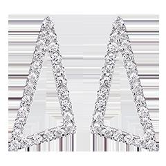 Ohrringe Sternenwinkel - 750er Weißgold und Diamanten