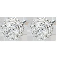 Oorbellen Charme Diamant - 18 karaat witgoud