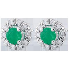 Oorbellen Clevia – Smaragd