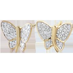 Oorbellen Denkbeeldige Balade - Muzikale Vlinder - 2 goudkleuren
