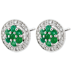 Oorbellen Isalia – smaragd
