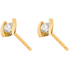 Oorbellen Liefdesnest - Caldeira- 18 karaat geelgoud - 0.21 karaat
