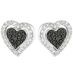Oorbellen Mega hart - 9 karaat witgoud