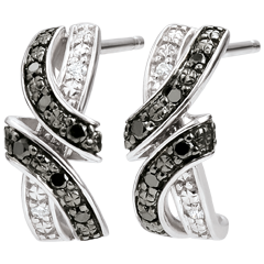 Oorbellen Obscuur Licht - Rendez-vous - zwarte diamanten - 18 karaat