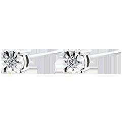 Oorbellen Origine - 9 karaat witgoud met Diamanten