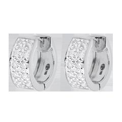 Oorbellen Sterrenbeeld - Astraal - groot model - wit goud - 0,2 karaat - 20 diamanten