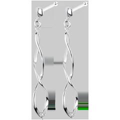 Orecchini Carnevale - Oro bianco - 18 carati - 2 Diamanti