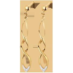 Orecchini Carnevale - Oro giallo - 18 carati - 2 Diamanti