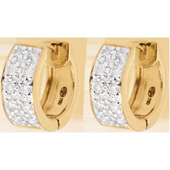 Orecchini Costellazione - Variazione astrale - modello grande - Oro giallo - 18 carati - 20 Diamanti