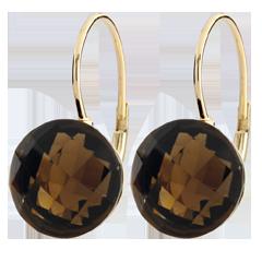 Orecchini Emma - Oro giallo - 9 carati - Quarzo - 10.25 carati