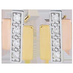 Orecchini Erina - Oro bianco, Oro giallo e Oro rosa - 8 Diamanti