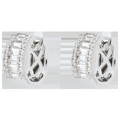Orecchini Fantasmagoria - Luce Infinita - modello piccolo - Oro bianco . 18 carati - 48 Diamanti - 1.38 carati