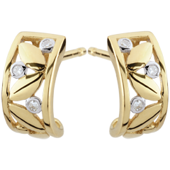 Orecchini Freschezza - Cerchi della Natura - Oro giallo - 9 carati