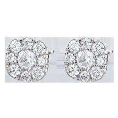 Orecchini Lavia - Oro bianco - 9 carati - 18 Diamanti - 0.3 carati