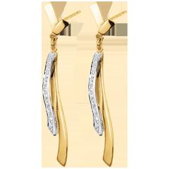 Orecchini Maeva - Oro giallo e Oro bianco - 18 carati - Diamante