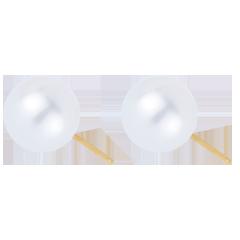 Orecchini Perle Purezza - Oro giallo - 18 carati - Perla bianca