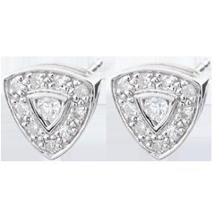 Orecchini Trilia - Oro bianco - 9 carati - 20 Diamanti - 0.11 carati