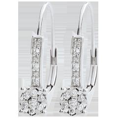 Orecchini Venezia - Oro bianco - 9 carati - 20 Diamanti