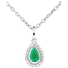 Pear-shaped Indian Emerald Pendant