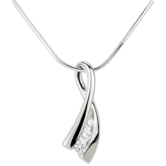 Pendant Precious Nest - Knot Illusion - white gold - 18 carats