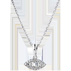 Pendentif Abondance - Regard Levant - or blanc 18 carats et diamants