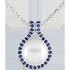 Pendentif Adélie - perles et saphirs