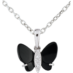 Pendentif Clair Obscure - Onyx Butterfly