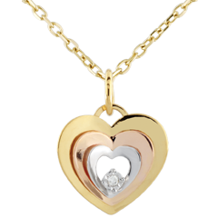 Pendentif coeur Boudoir - trois ors