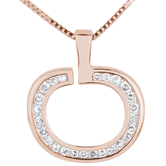Pendentif Diapple or rose - 0.15 carat