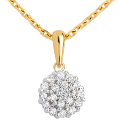 Pendentif kaléidoscope pavé diamants - 19 diamants - 0.19 carat