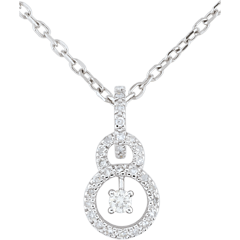 Pendentif or blanc 9 carats Scarlet - 31 diamants
