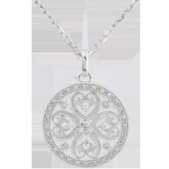 Pendentif Sublime Tahia - 37 diamants - or blanc 9 carats
