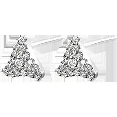 Pendientes Abundancia - Zenith - oro blanco de 9 quilates y diamantes