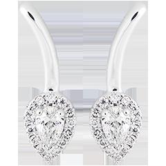 Pendientes Bourgeon - oro blanco de 9 quilates y diamantes