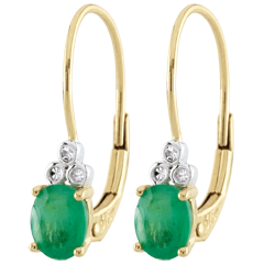 Pendientes Exquisitos - esmeraldas y diamantes