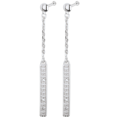 Pendientes Parisinos - oro blanco 18 quilates y diamantes