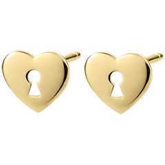 Pendientes Precioso Secreto - Corazón - oro amarillo 9 quilates