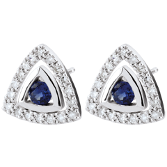 Pendientes Salma - zafiros azules