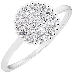 Penelope ring - 9K white gold and diamonds